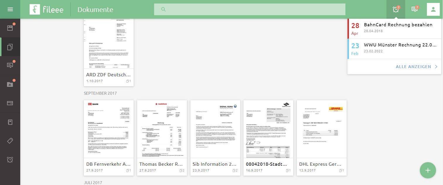 mit fileee Dokumente digitalisieren