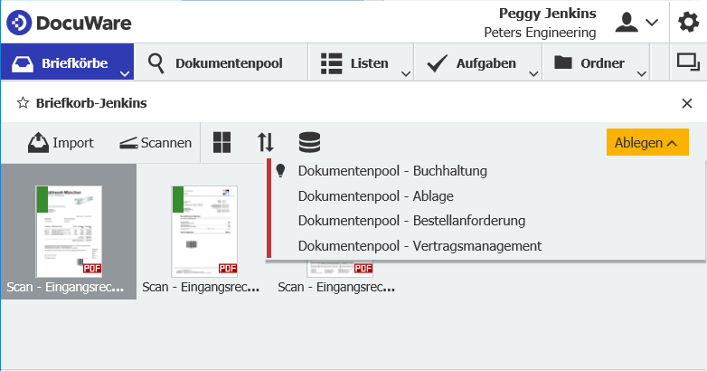 DocuWare elektronische Dokumentenverwaltung