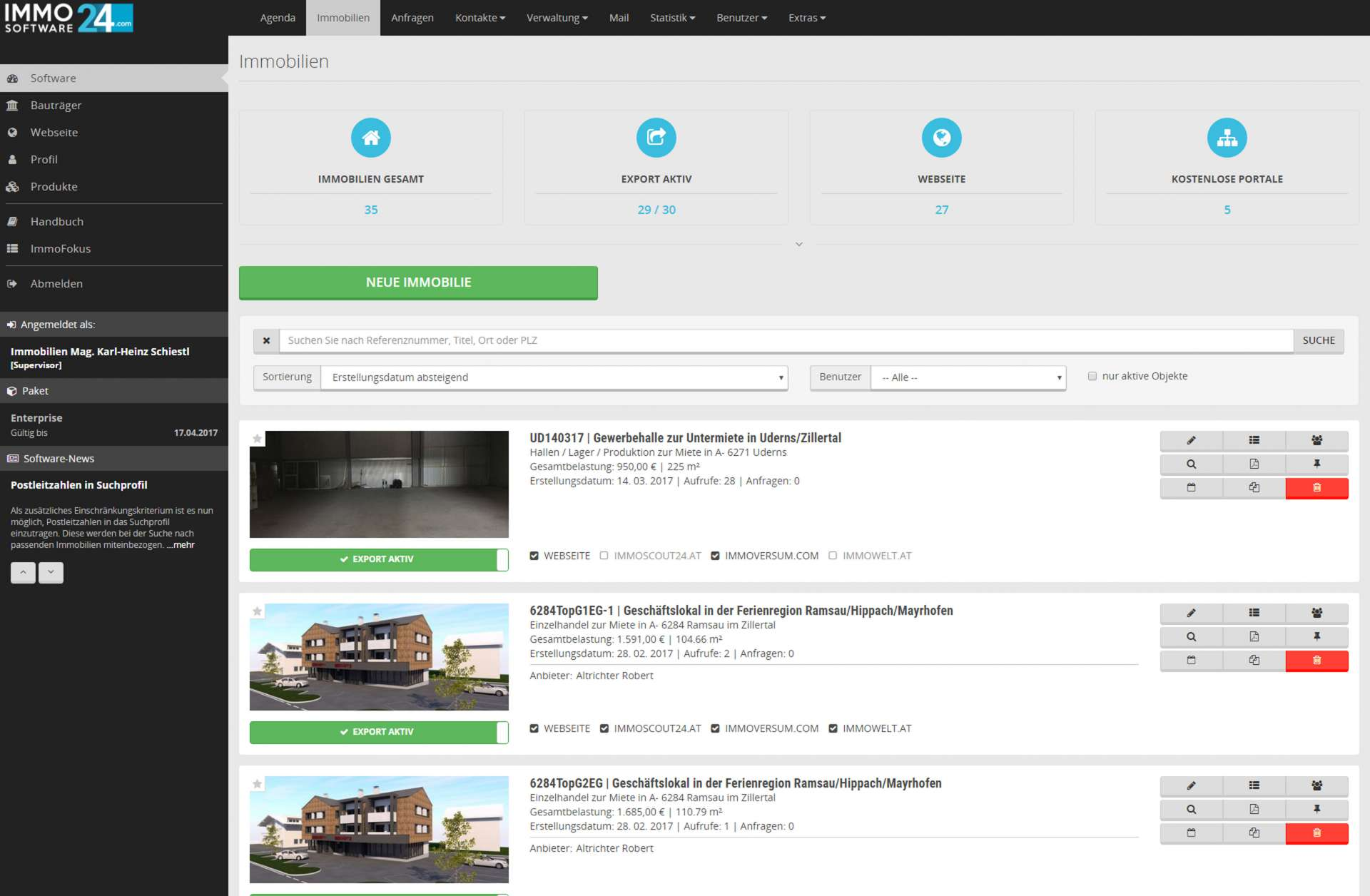 ImmoSoftware24 CRM für Makler