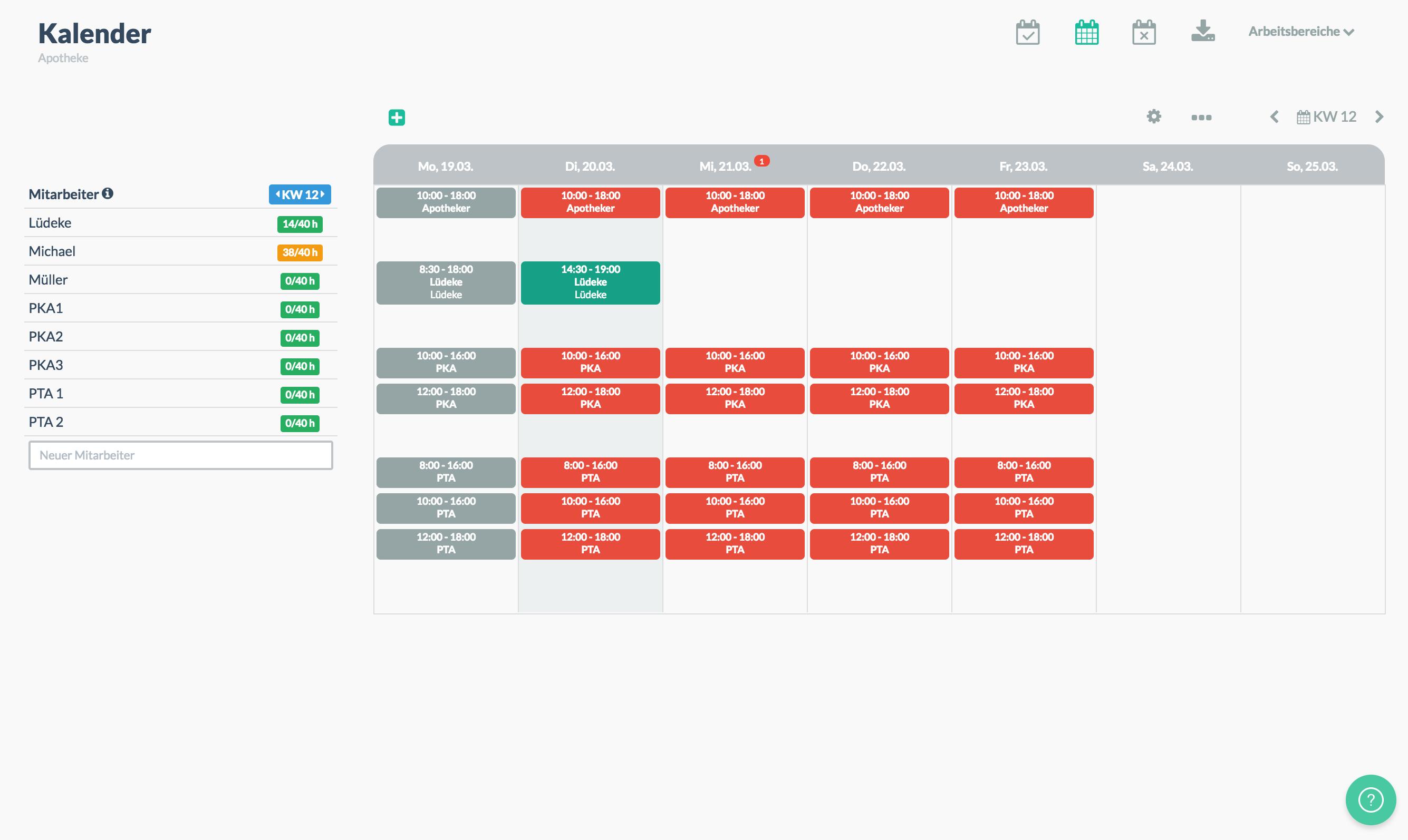 Dienstplan erstellen mit Papershift