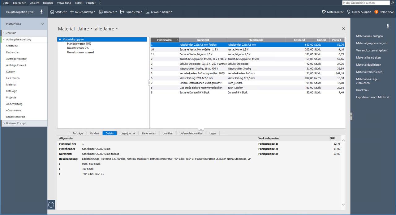 Lexware handwerk Software für Handwerker