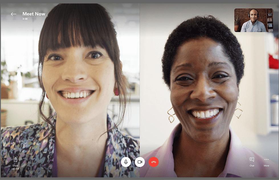 travail collaboratif : visuel Skype