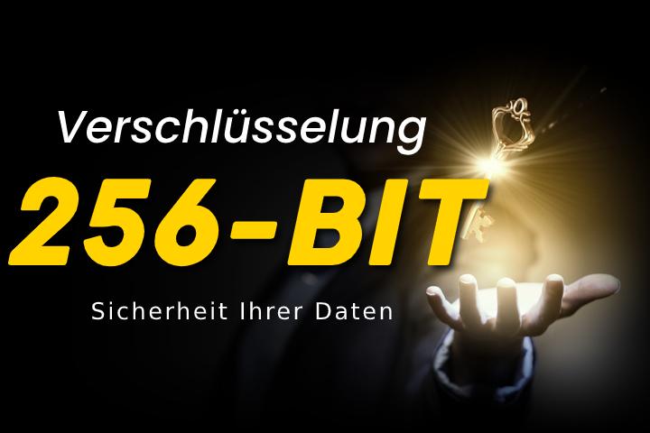 256 Bit Verschlüsselung - die sicherste Verschlüsselungsmethode für Ihren Datenschutz