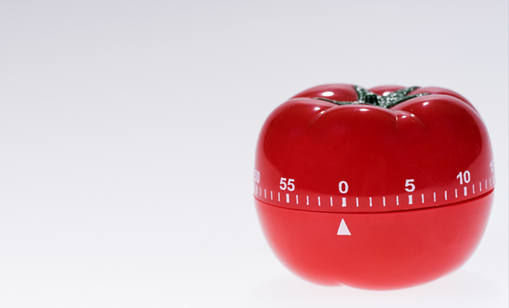 timer a forma di pomodoro