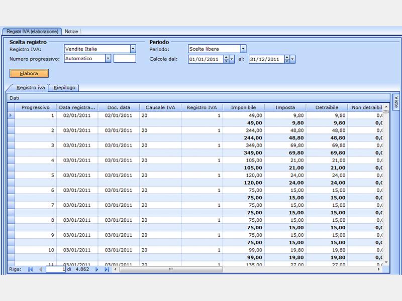 screenshot contabilità ordinaria amica