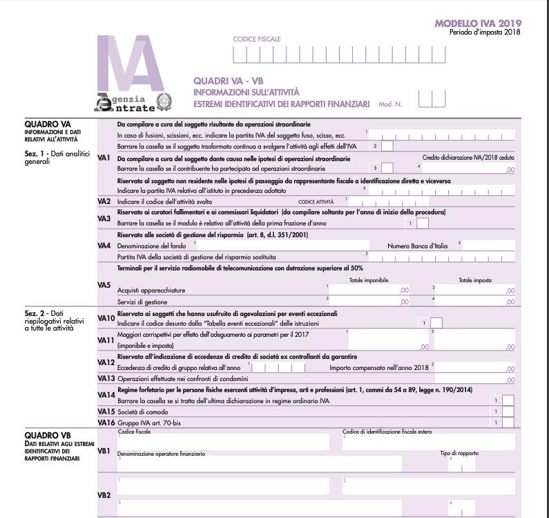 modello IVA 2019