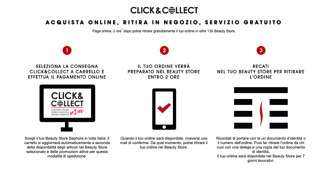 click and collect sephora