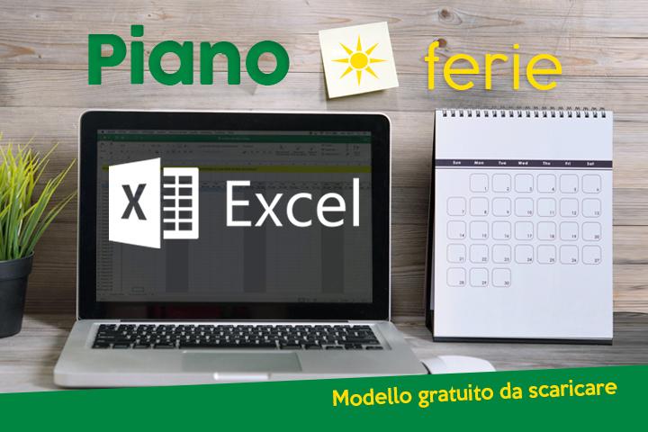 Piano ferie Excel: il nostro tutorial [Bonus: planning excel gratis da scaricare]