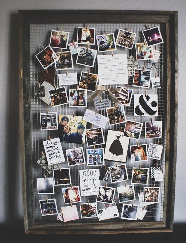 création de vision board avec des photos