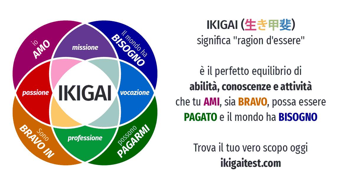 schema di metodo ikigai