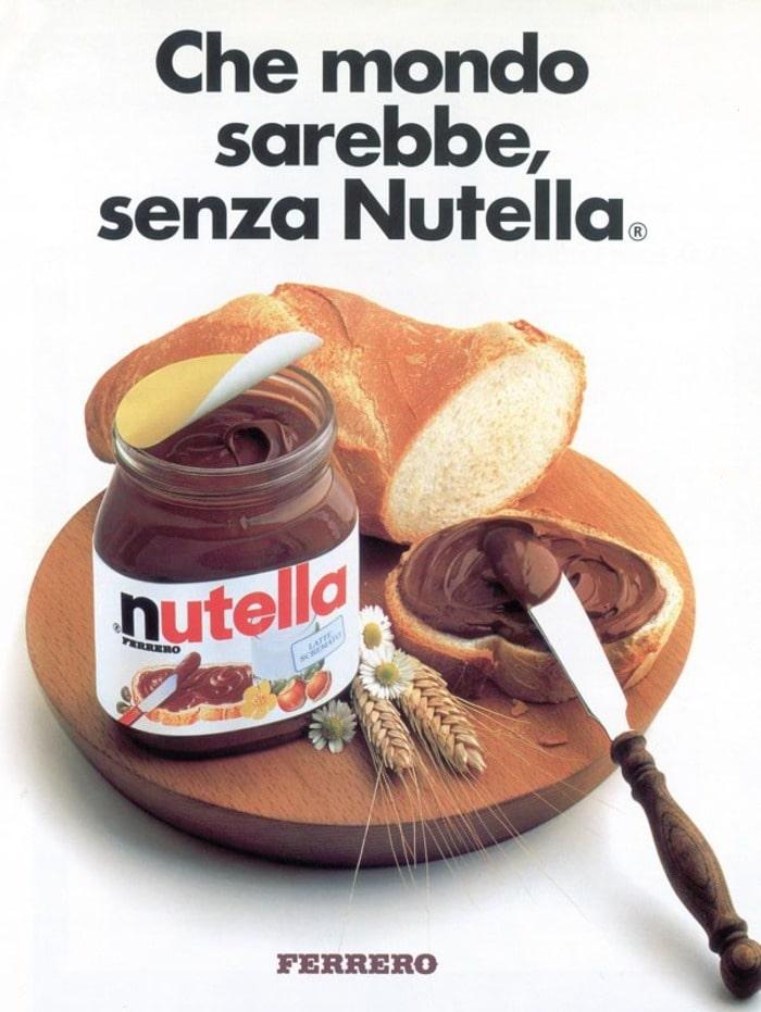 slogan: che mondo sarebbe senza Nutella