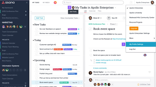 Asana is a collaboration and work management solution that can be spread across multiple projects
