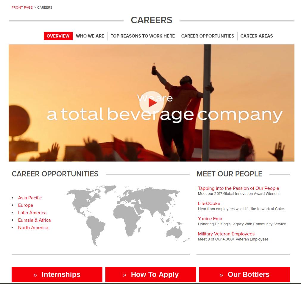coca cola career website