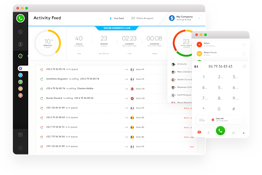 Aircall ofers an accessible and intuitive interface