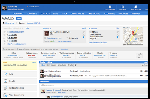 Sellsy CRM & Customer Support, the most intuitive CRM