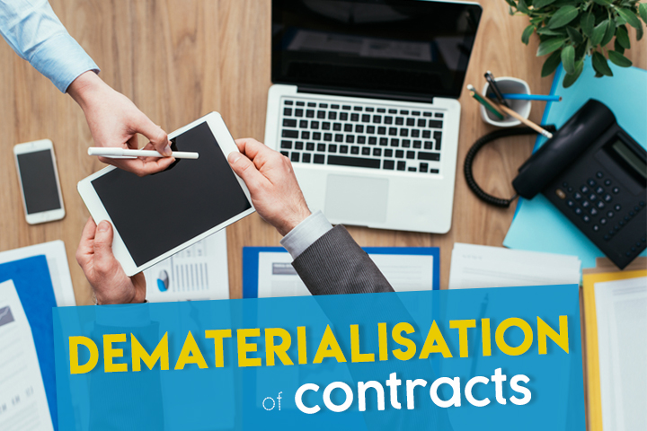 The dematerialisation of contracts becomes child's play