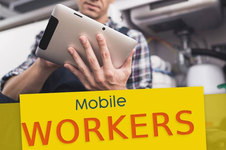 What are the benefits of using the service of mobile workers?