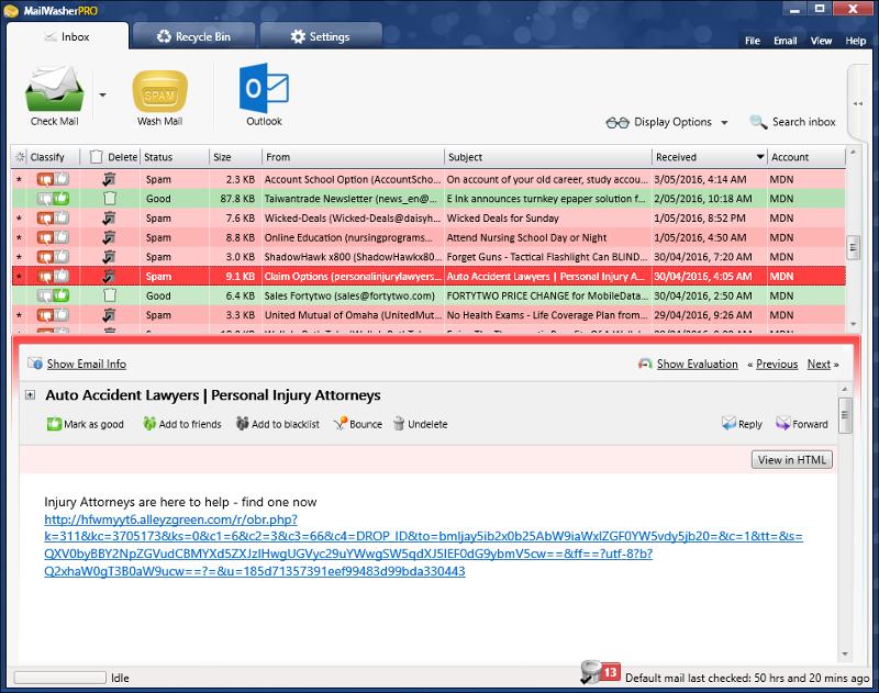 Mailwasher antispam
