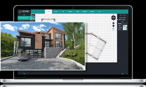 Cedreo interior design software: 3D model rendering