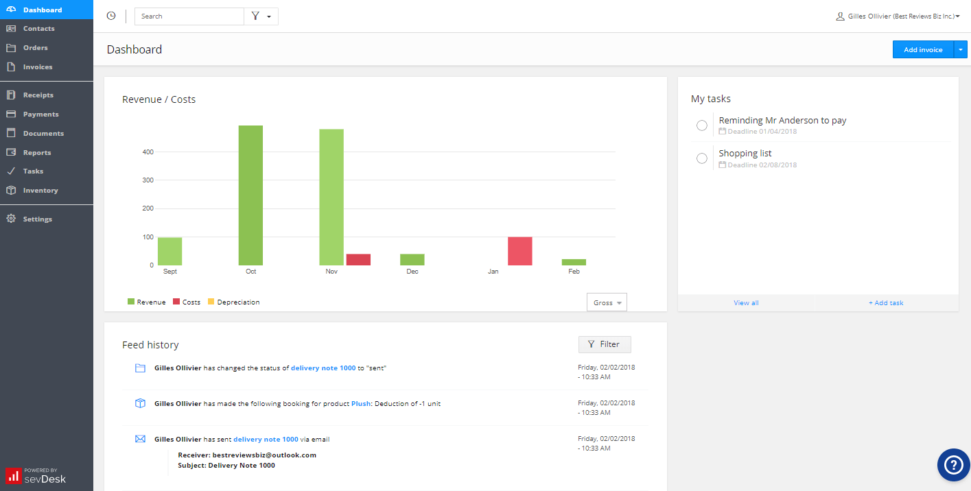 sevDesk Online Invoicing