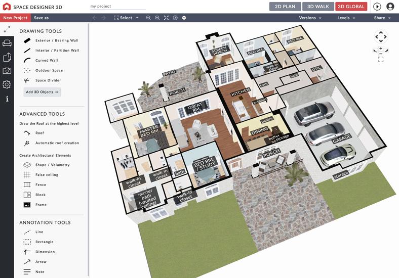 Space Designer 3D: Professional tool for interior design
