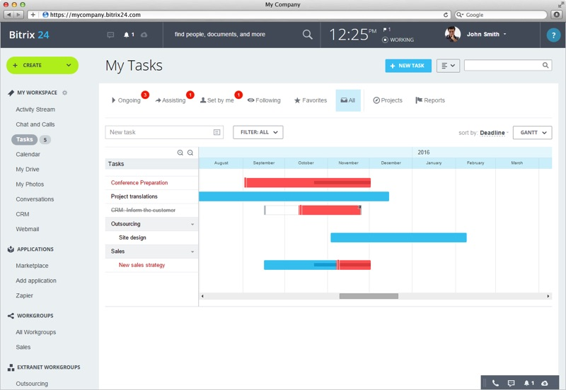 Bitrix24, a multi use project management tool