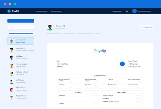 screenshot payfit