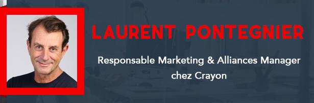 Laurent Pontégnier, Responsable Marketing & Alliances Manager chez Crayon