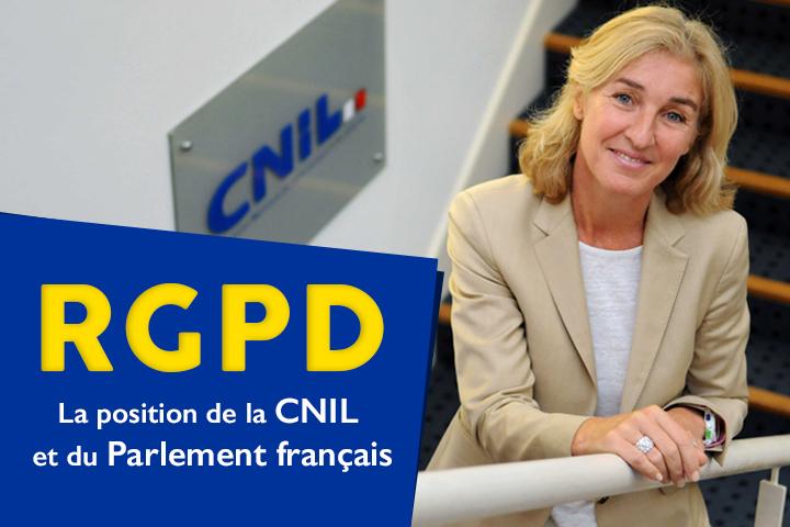 RGPD : la position de la Cnil et du Parlement français