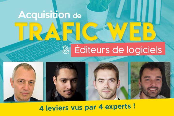 Acquisition de trafic web et éditeurs de logiciels : 4 leviers vus par 4 experts