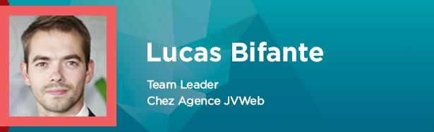 Lucas Bifante, Team Leader chez agence JVWeb