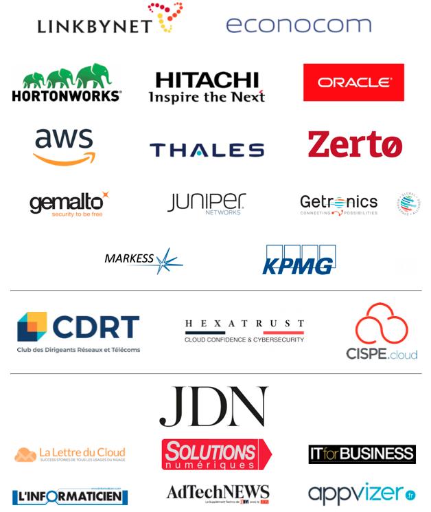 Les partenaires de la Cloud Week Paris 2018