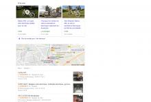 """Résultats Google pour la requête """"vélo électrique""""."""
