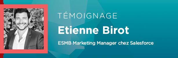 Etienne Birot, ESMB Marketing Manager chez Salesforce