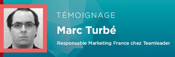 Marc Turbé, Responsable Marketing France chez Teamleader.