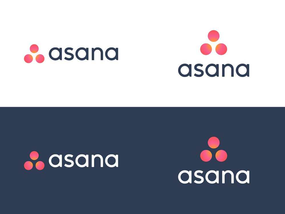 Logo guidelines for Asana