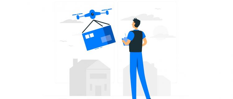 Drone parcel delivery service