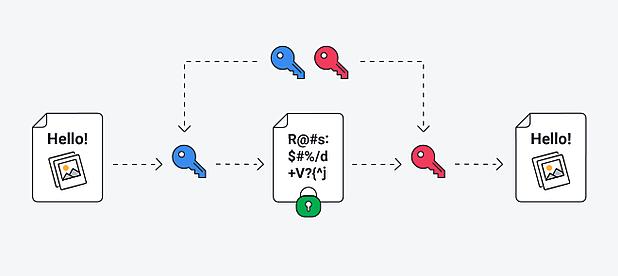 Chiffrement des données : algorithme de chiffrement asymétrique