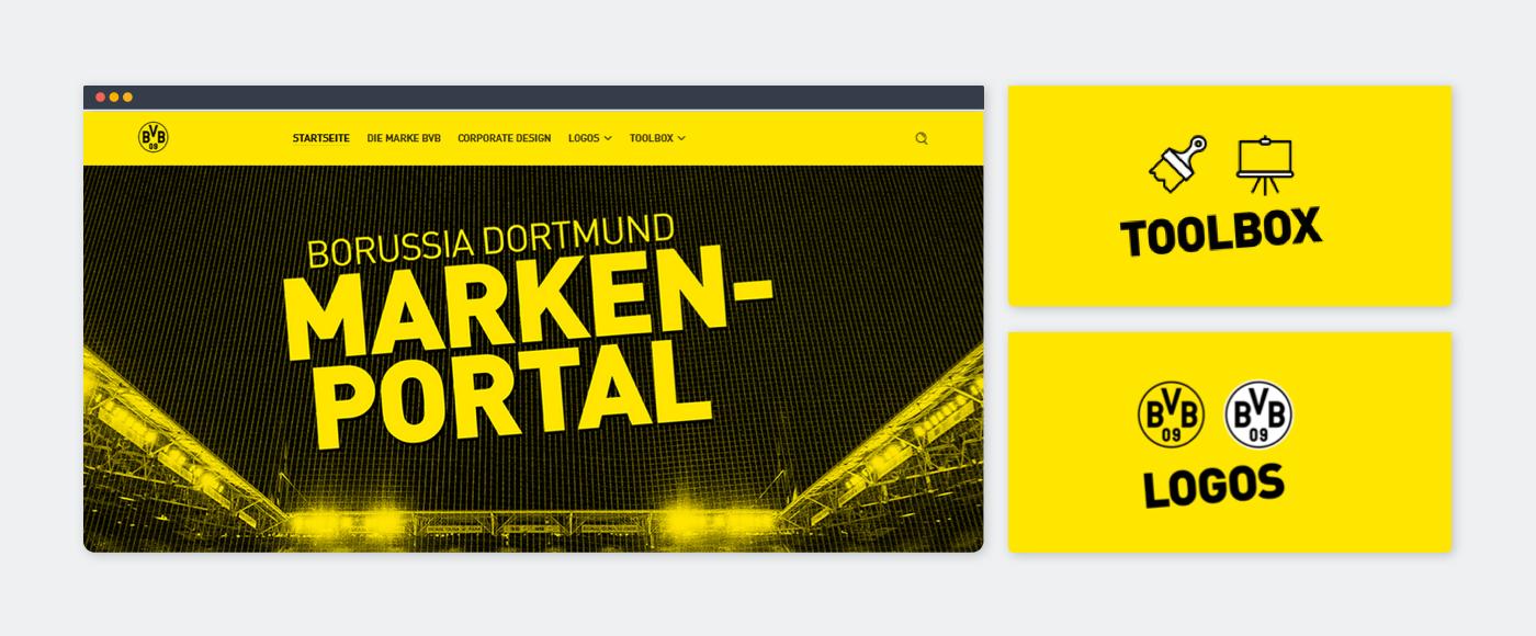 Le portail de marque du BVB avec Frontify