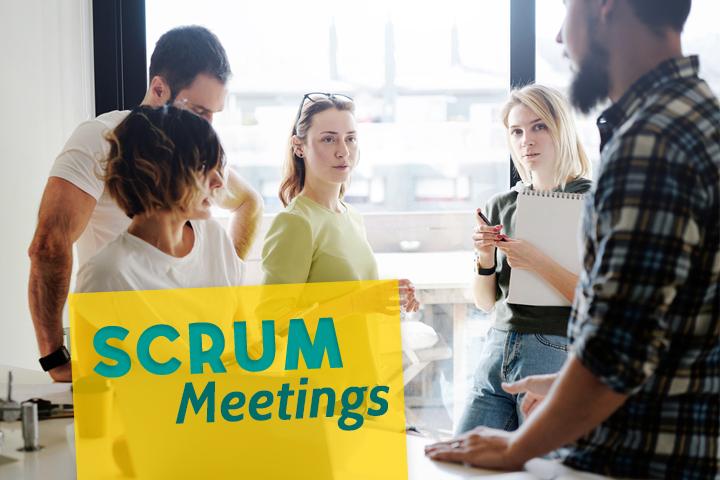 Lernen Sie die 4 Scrum-Meetings kennen um Ihr Projektmanagement optimal umzusetzen!