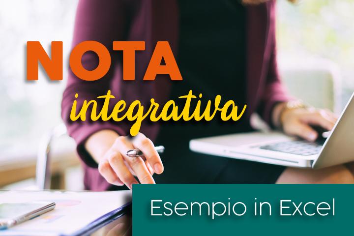 nota integrativa esempio