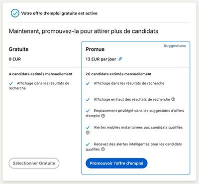 publier une offre d'emploi LinkedIn