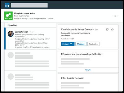 gérer les candidatures LinkedIn