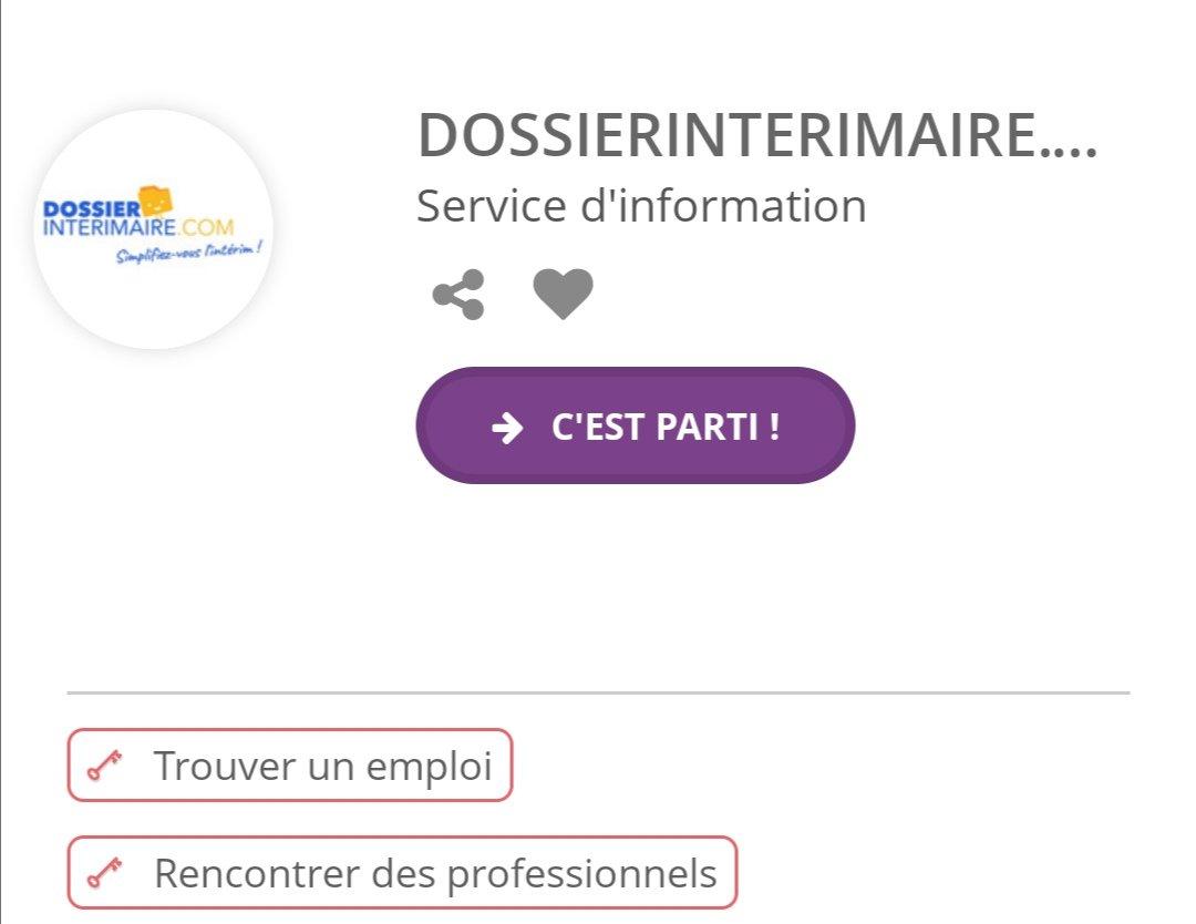 Plateforme intérim - Dossier Intérimaire