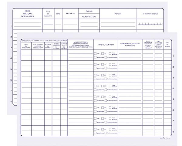 exemple de registre unique du personnel
