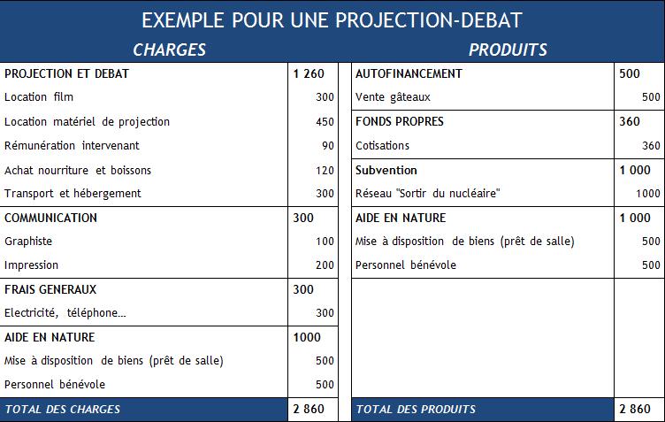 exemple de budget prévisionnel de projet