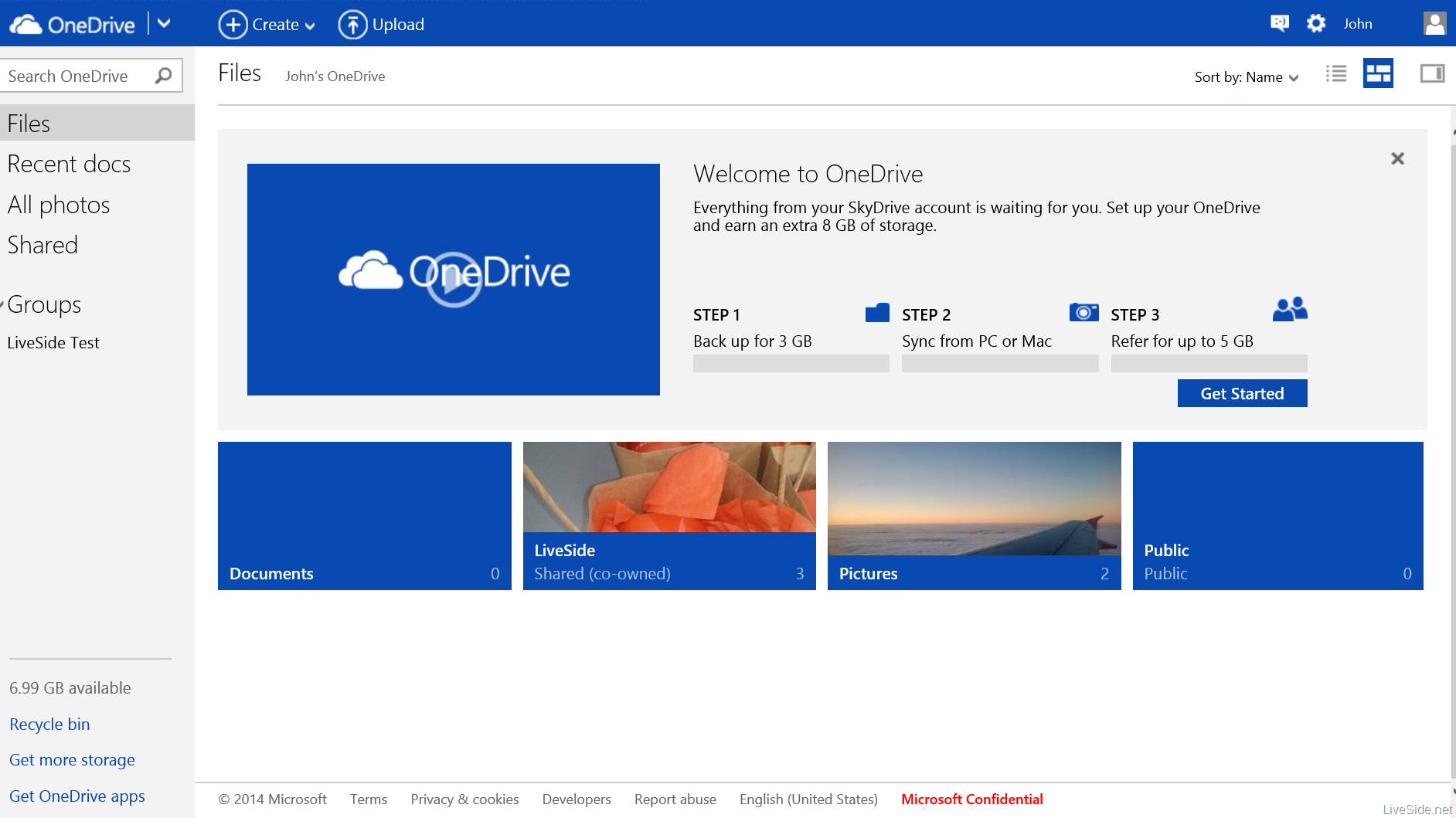 équivalent Dropbox : OneDrive