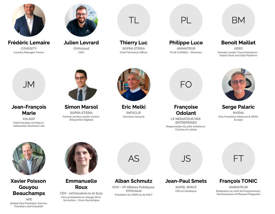 Panel d'intervenants à la Cloud Week 2021