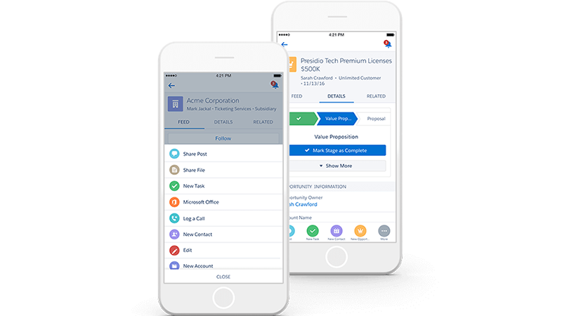 CRM mobile : Salesforce