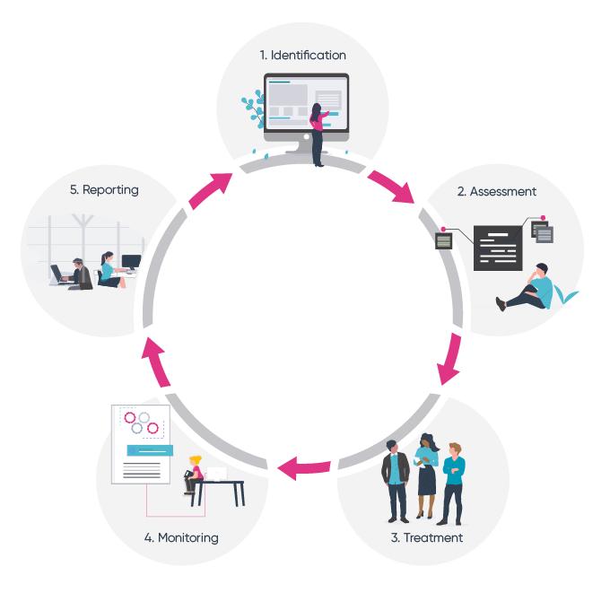 Identify - Assess - Control - Monitor - Report
